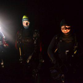 Nurkowanie w nocy Svobodne Hermanice wyprawa nurkowa Sealion